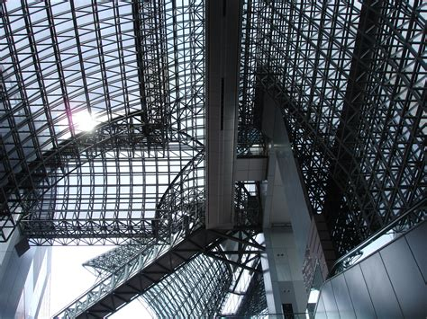 Roof Upholstery by File Kyoto Station Interior Roof Architecture Jpeg