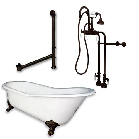 Freestanding Faucet For Clawfoot Tub by Cast Iron Slipper Clawfoot Tub 67 Quot X 30 Quot Freestanding