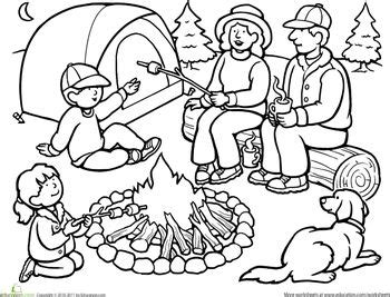 Ideas Coloring Sheet Pages Camping Forward The sketch template