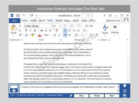 Microsoft Word Sample Questions