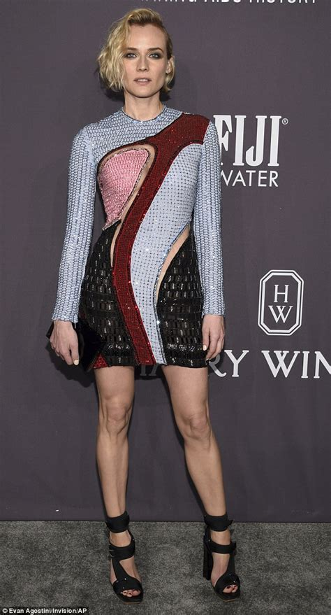 Gamis Diana Black diane kruger rocks multicolored mini dress at amfar gala