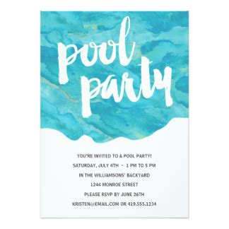 Backyard Pool by Pool Party Invitations Amp Announcements Zazzle