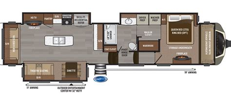 montana fifth wheel floor plans 2017 keystone montana 3811ms cing world of south