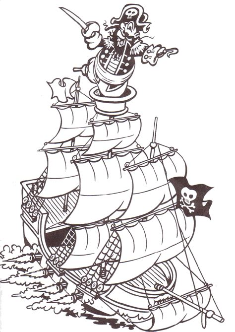 Pirate Coloring Pages Coloringpagesabc Com Pirate Colouring Page