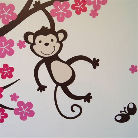 monkey wall sticker 28 images vinyl stickers wall