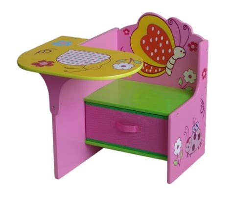 4gr8 kidz pink series wooden chair desk with storage