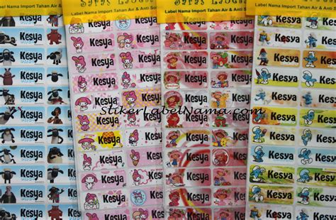 Sticker Nama Waterproof jual label nama di surabaya stiker label nama