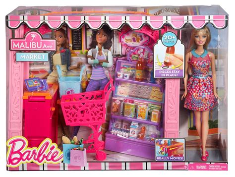 barbie dream house dolls house playset amazon com barbie life in the dreamhouse grocery store and doll playset toys games