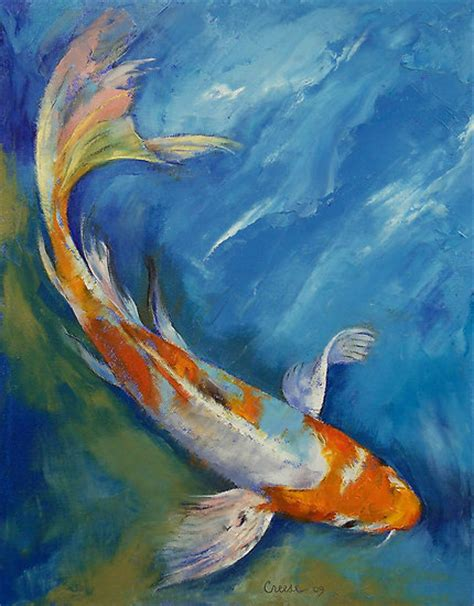 acrylic painting koi fish acrylic painting aquatique on fish paintings
