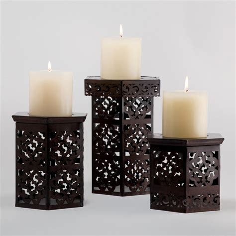 Candles For Holders Naveen Pillar Holders Mediterranean By Cost Plus World