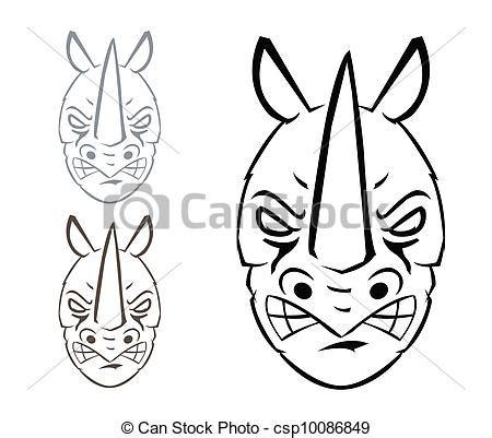 Rhino Artwork by Eps Vector Of Rhino Mascot Csp10086849 Search Clip Art