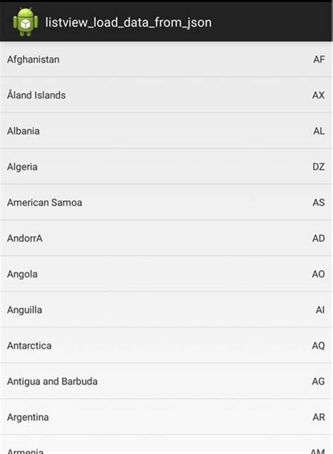 tutorial android listview php mysql android listview load data from json