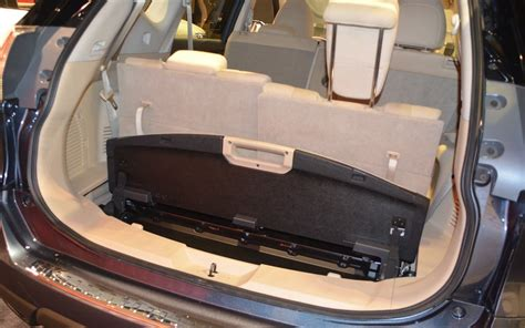 2017 nissan rogue interior 3rd row when the third row of seats is in place the cargo
