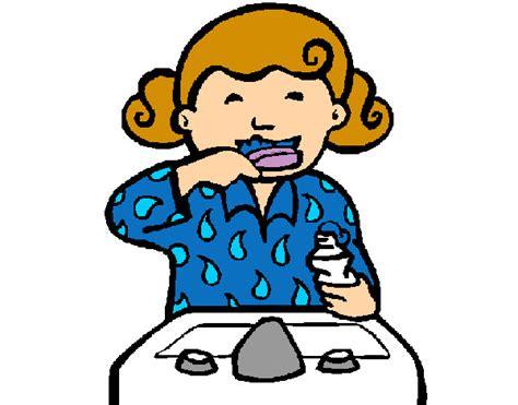 dibujo de ni a cepill ndose los dientes para colorear dibujos de ni 241 as cepillandose imagui