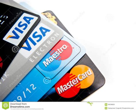 Visa Mastercard Gift Card - credit cards choice editorial image image 36038820