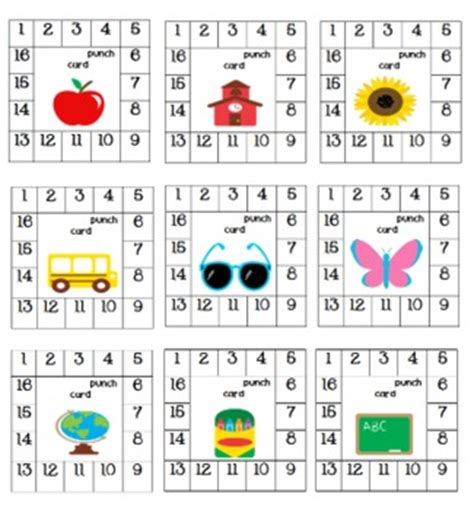behavior reward card template positive behavior punch cards by teaching s a hoot by