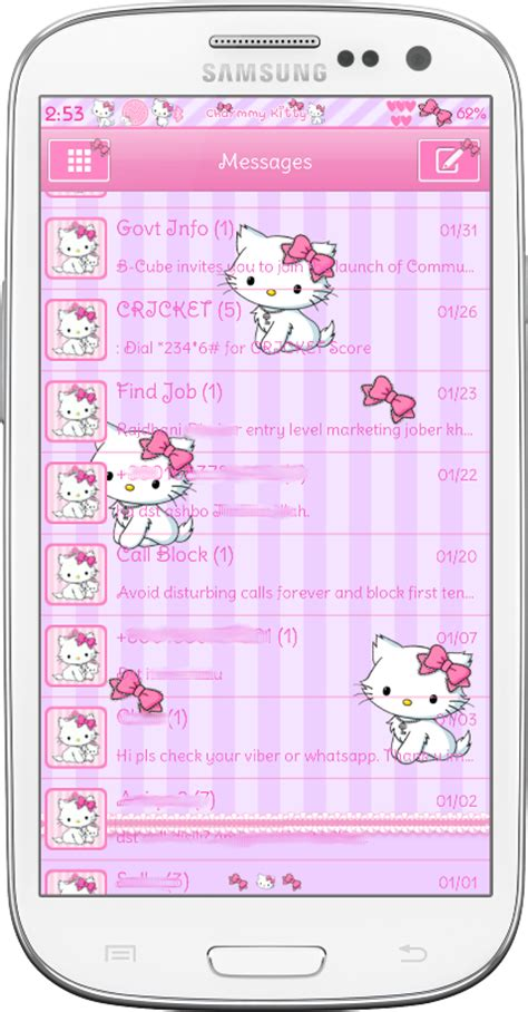 themes hello kitty samsung pretty droid themes charmmy kitty theme pack