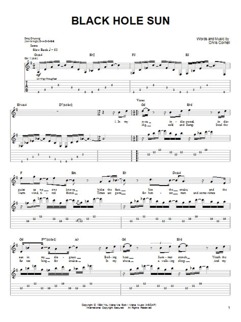 Black Hole Sun Chords | black hole sun sheet music direct