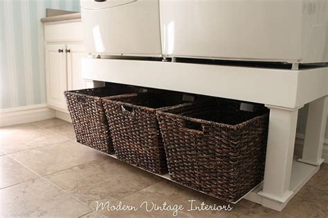 washer and dryer pedestal reveal shanty 2 chic 17 best images about laundry pedastal on pinterest