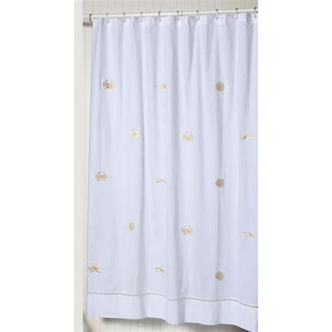 tan shower curtain sealife beige embroidered shower curtain