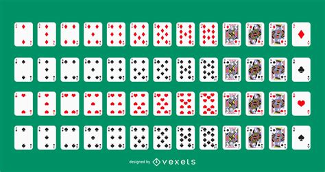 vector playing card deck vector