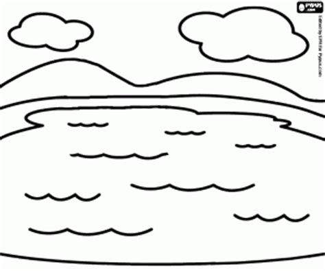 Water Landscapes Coloring Pages Printable Games Lake Coloring Page