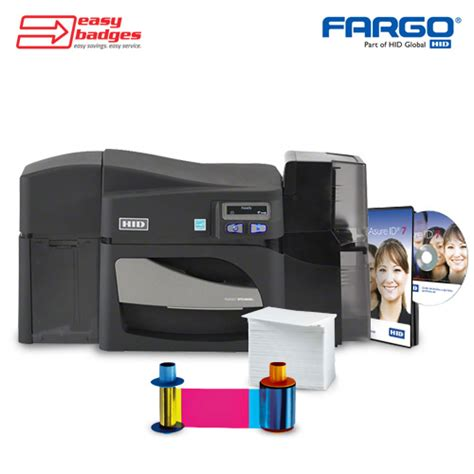 id card design software fargo fargo dtc4500e complete dual sided id card system easybadges