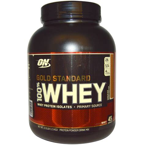 Whey Protein 1 Lbs optimum nutrition gold standard 100 whey protein isolates chocolate peanut butter 3 31 lbs
