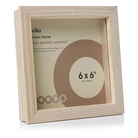 Decoupage Box Frames - 4 163 wilko decoupage box frame wood 6inx6in