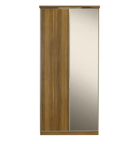 Hinged Mirror Wardrobe Doors by Berkeley 2 Door Hinged Wardrobe Walnut And Mirror