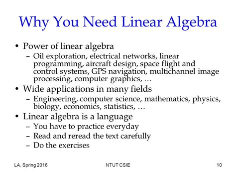 online tutorial linear algebra course overview linear algebra ppt video online download