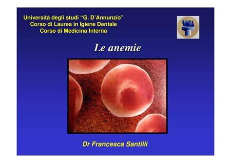 dispense medicina anemie dispensa di medicina interna