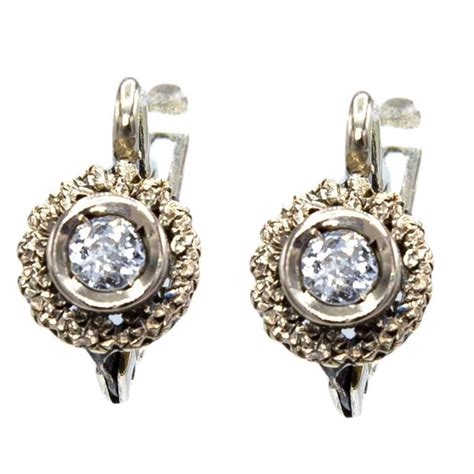 1950s italian gold drop earrings for sale at 1stdibs