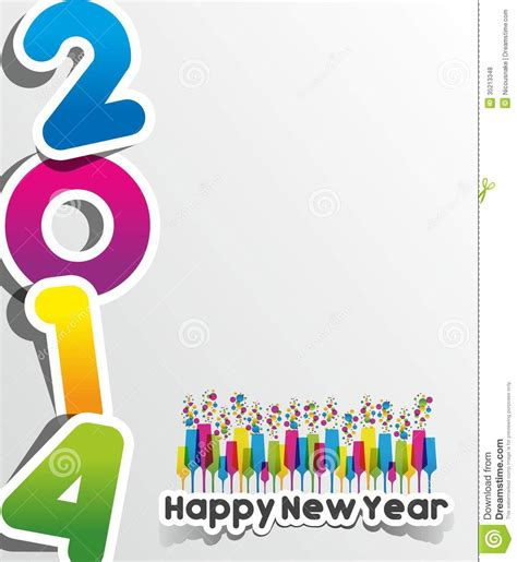 happy new year card vector colorful abstract happy new year 2014 card vector
