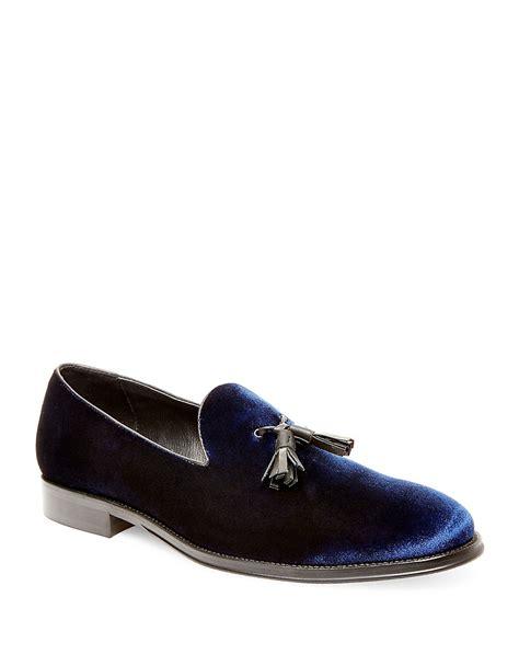 velvet loafers lyst steve madden bway velvet loafers in black