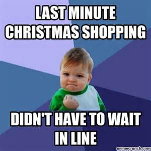 Shopping Meme - last minute christmas shopping