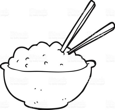 bowl of rice black white line art tatoo tattoo black and white cartoon bowl of rice stock vector art