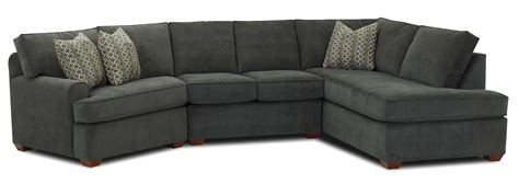 Sectional Sofa With Chaise hybrid sectional sofa with right facing sofa chaise by klaussner wolf furniture