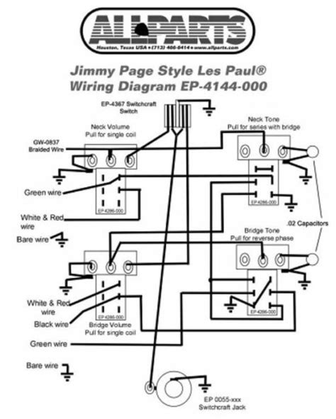 Wiring Kit For Gibson 174 Jimmy Page Les Paul Complete W