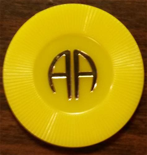 month yellow aa poker chip  sale