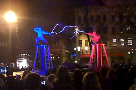 Tesla Fight Tesla Coil Fight Two Enter Two Get Electrocuted