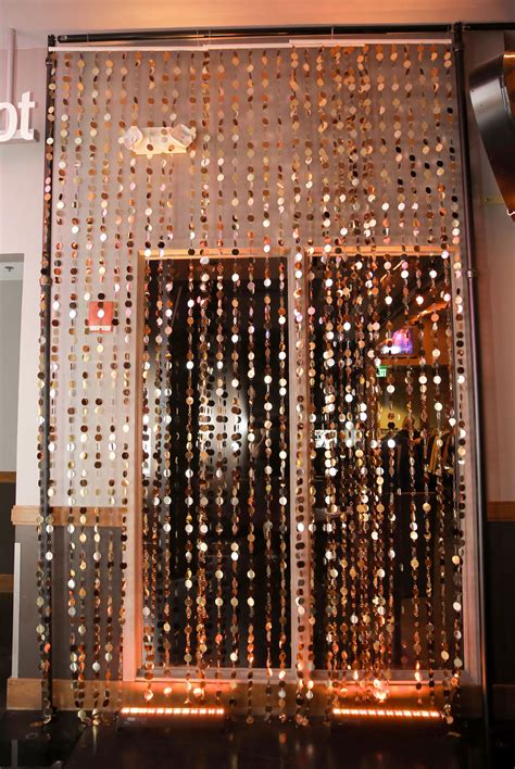 bronze curtain bronze gold curtain event rental