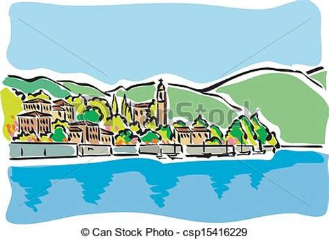 Small Lake Home Plans vector illustration of lake como illustration of lake