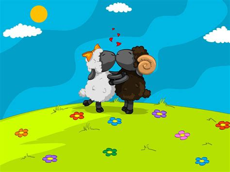 cartoon kissing wallpaper desktop cartoon sheep wallpaper cartoon images