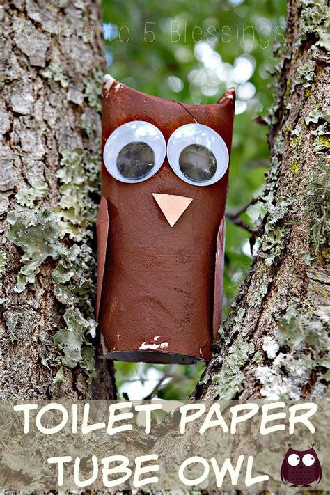 Toilet Paper Owl Craft - toilet paper owl craft with linky