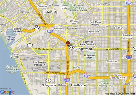 inglewood california map map of best western airpark hotel inglewood