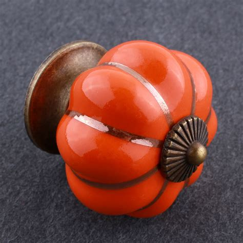 Orange Cabinet Knobs by Pumpkin Knobs Cabinet Cupboard Pull Handles Home Durable