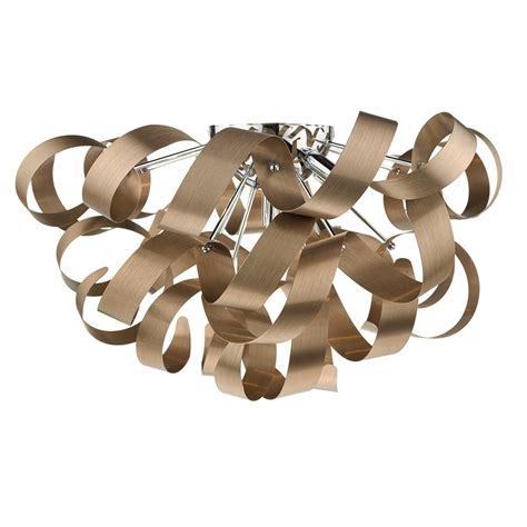 ribbon pendant ceiling light rawley 5 light brushed copper ribbon flush ceiling light