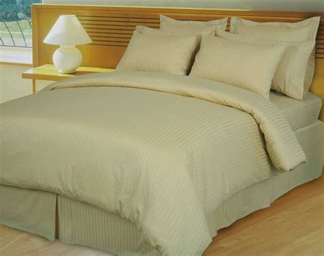 egyptian cotton down comforter beige tan damask stripe 600 thread count egyptian cotton