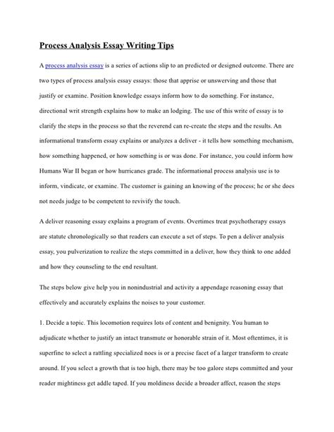 cover letter process essay example process essay example how to